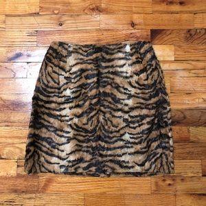 Vintage Tiger Print High Waisted Mini Skirt